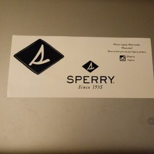 Sperry STICKER Set Blue White